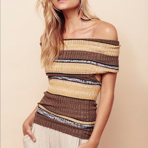 NWT $108 free people Carly cowl striped